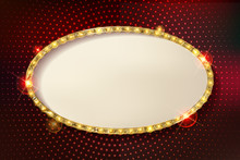 Marquee Stylish Oval Frames With Light Bulbs.