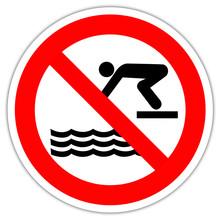 Panneau : Interdiction De Plonger