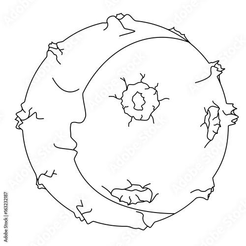 Foto op Plexiglas Schilderingen Illustration of a full moon with craters.