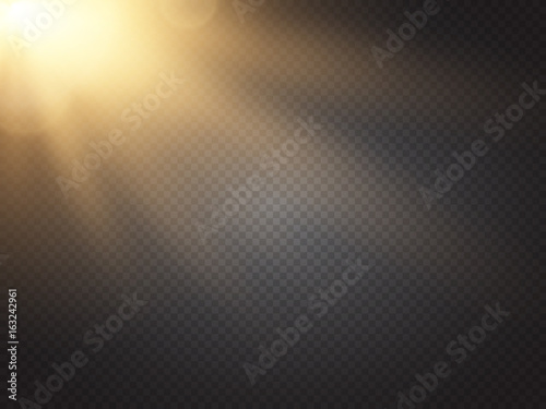 Sun isolated on transparent background. Vector illustration. Wallpaper Mural