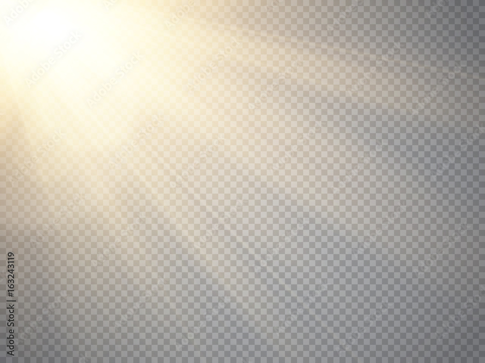 Fototapeta Sun isolated on transparent background. Vector illustration.