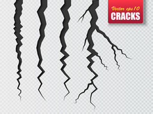 Vector Cracks Isolated. Illustration For Your Design