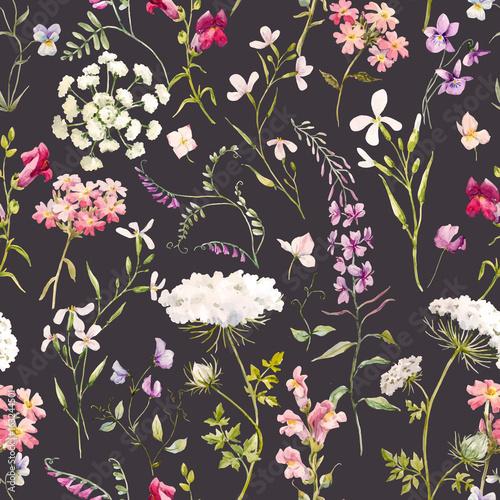 akwarela-kwiatowy-lato-wektor-wzor