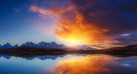 Panel Szklany Podświetlane Wschód / zachód słońca Majestic colorful sunset