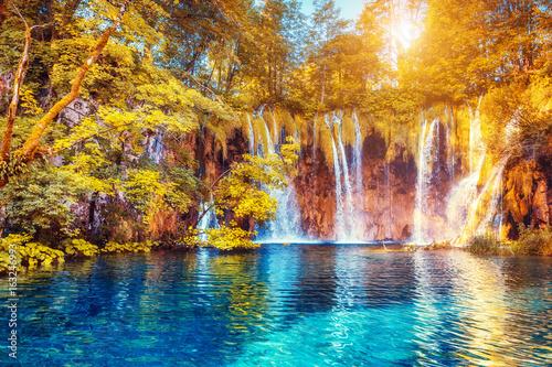 fototapeta na lodówkę Plitvice Lakes National Park