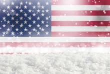 Defocused American Flag As A W...