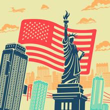 Statue Of Liberty Vector Backg...