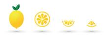 Lemon Fruit Slice Abstract Ico...