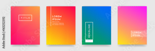 Cadres-photo bureau Abstract wave Abstract pattern texture book brochure poster cover gradient template vector set