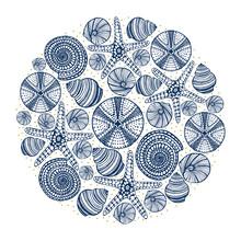 Vector Hand Drawn Maritime Print