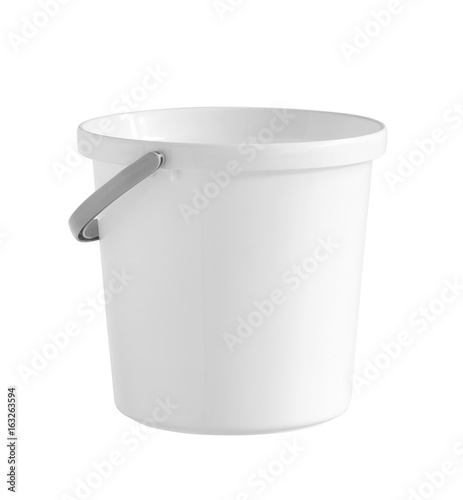 Plastic bucket (with clipping path) isolated on white background Wall mural