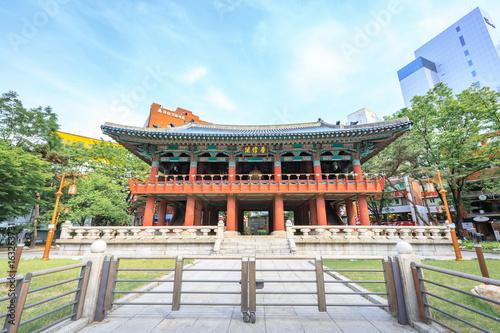 Photo  Bosingak Bell Pavillion on Jun 19, 2017 in Seoul, South Korea