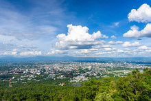 Chiang Mai City View From Doi Suthep View Point