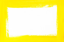 Yellow Border Painted On White...