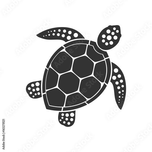 Naklejka premium Ikona żółwia morskiego