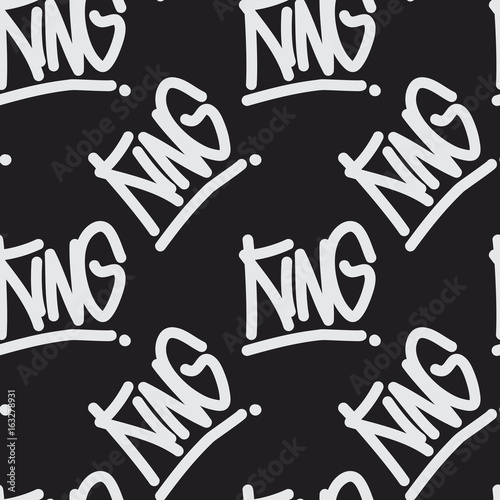 graffiti-style-seamless-pattern-with-text-king-handwritten-calligraphy-texture-for-print