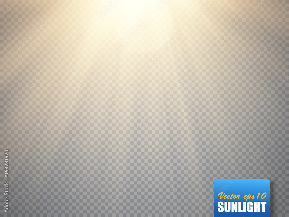 Fototapety, obrazy: Sun isolated on transparent background. Vector illustration.