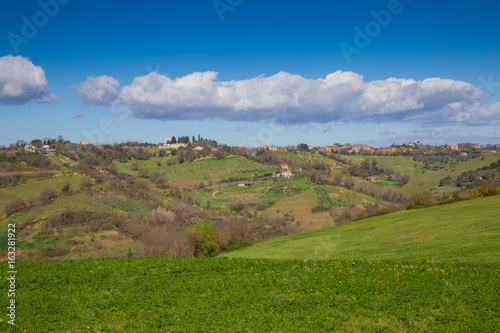 Photo  The hills of Sabina.Province of Rieti, Lazio, Italy.