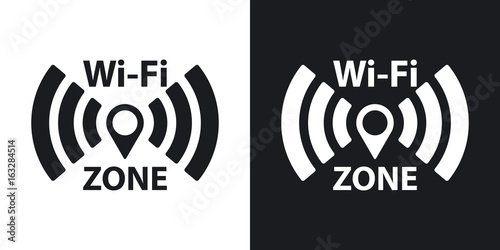 Cuadros en Lienzo Vector Wi-Fi network icon