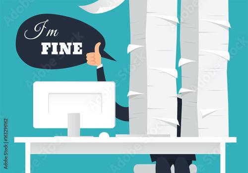 Fotografie, Obraz  I am fine vector illustration