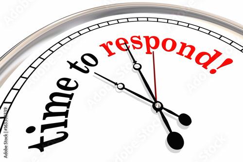фотографія  Time to Respond Clock Responsive Service 3d Illustration