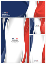 Abstract France Flag Background