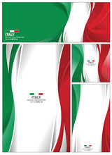 Abstract Italy Flag Background