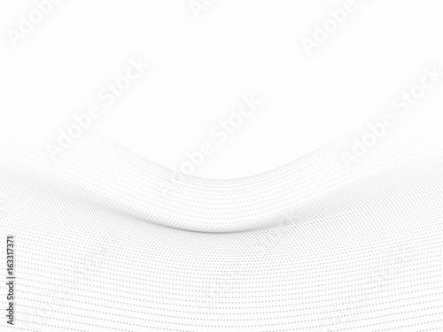 Fototapeta Kropki falują białego 3d tło