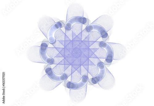Fototapety, obrazy: Patterns on white