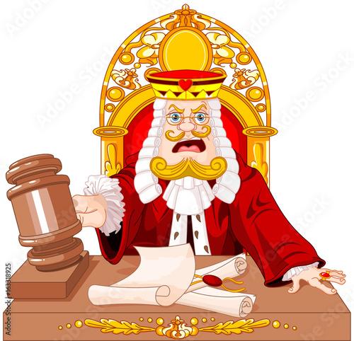 In de dag Sprookjeswereld King of Hearts Judge with gavel