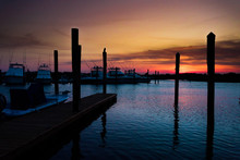 Cape May Boat Dock Sunset