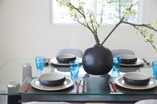 Simple Home Table Setting, Gla...