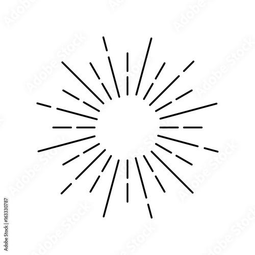 Fototapeta Rays on a white background, linear drawing obraz na płótnie
