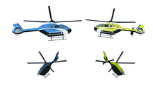 Colored Helicopter