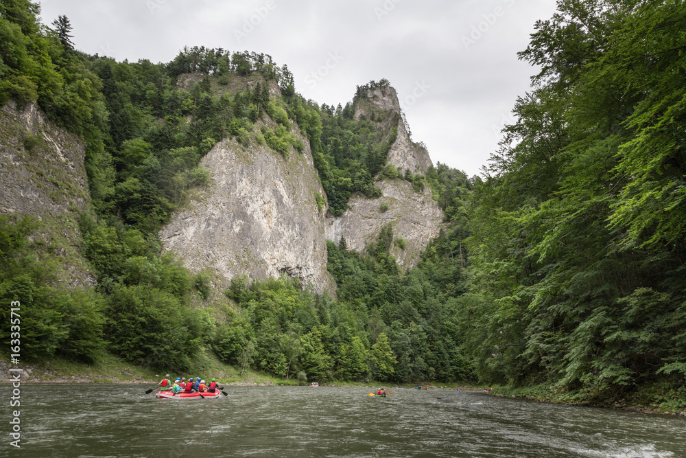 Rafting on the Dunajec river in the Pieniny National Park.Poland
