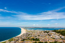 Aerial View On Chesil Beach On...