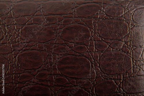 Fotobehang Stof Brown crocodile skin as background