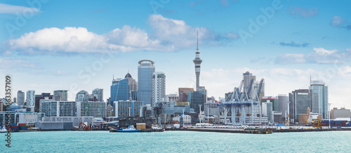 Auckland view at the noon Canvas Print