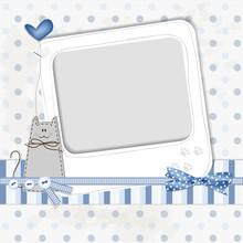 Scrapbooking Cat Blue
