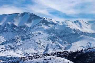 Fototapeta na wymiar Snowy mountains of Tien Shan in winter