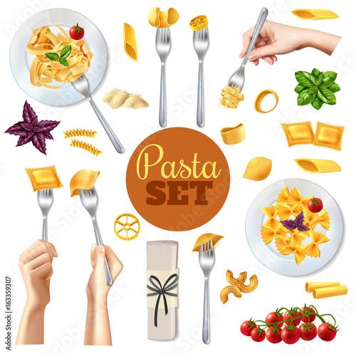 Stampe  Pasta Realistic Set