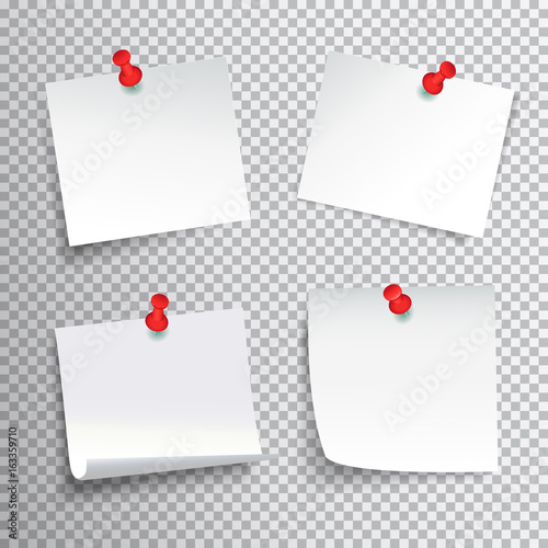 Obraz na plátně  Pinned Paper Set