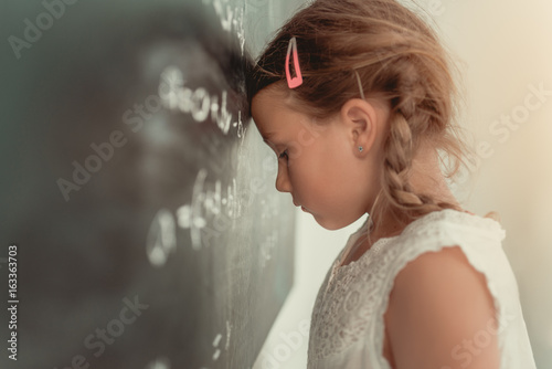 frustrated math school child Fototapeta