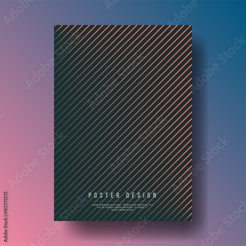Abstract Modern Geometric Shapes Cover Design Layout For Banners