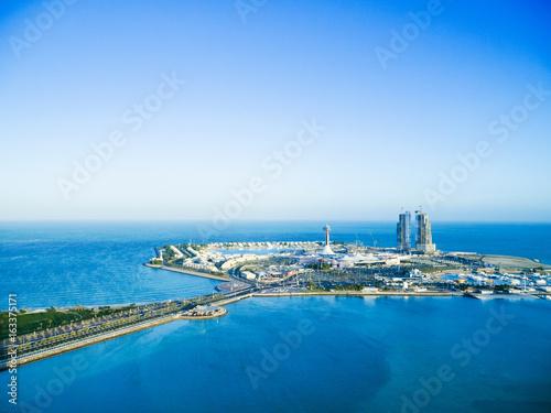 Foto auf Leinwand Abu Dhabi Abu Dhabi marina island