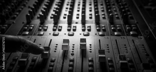 Sound music mixer control panel Canvas Print