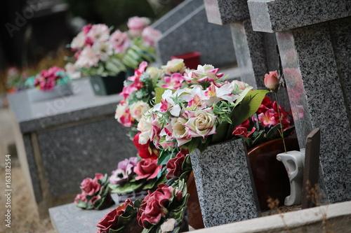Photo cimetière tombe fleurie RIP repose en paix