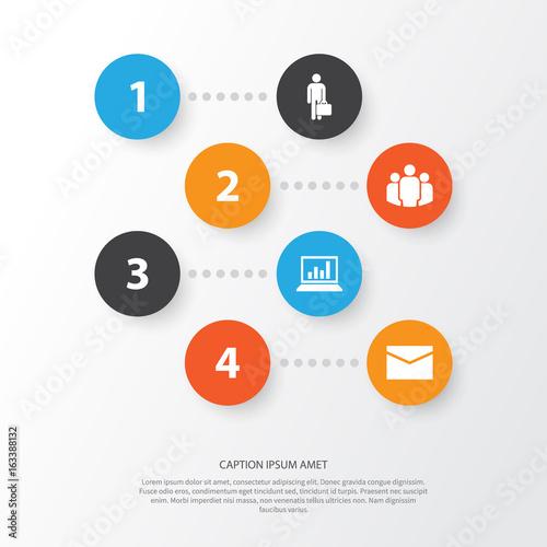 Valokuva  Business Icons Set