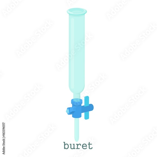 Laboratory buret icon,cartoon style Canvas-taulu