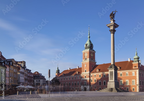 Fototapety, obrazy: Royal Castle and King Zygmunt Column in old town Warsaw